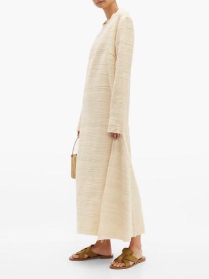 ALBUS LUMEN Petram long-sleeved cotton-blend dress ~ casual cream vacation dresses