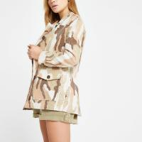 RIVER ISLAND Pink camo sequin army jacket – shimmering jackets