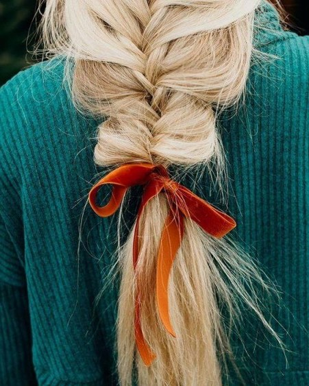 Beautiful loose braid   inspiration for long hair - flipped