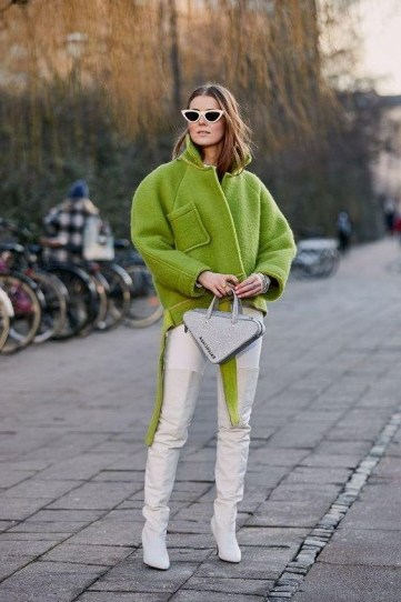 Fresh street style in lime-green and white - flipped