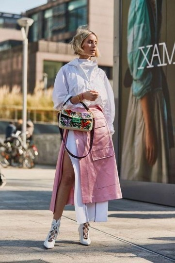 Chic looks in pink and white / individual street style outfits - flipped