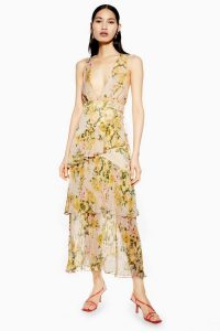 TOPSHOP Pleat Tiered Midaxi Dress / summer event dresses