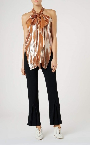 Roland Mouret PONTAL TOP Rose Gold – occasion tops - flipped