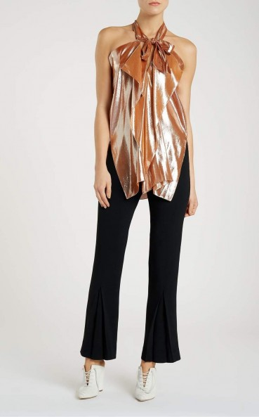 Roland Mouret PONTAL TOP Rose Gold – occasion tops