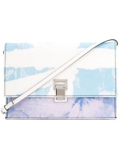 PROENZA SCHOULER Tie Dye Denim Small Lunch Bag in baby blue / lilac - flipped