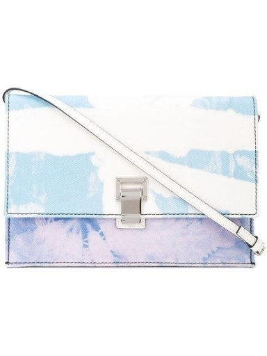 PROENZA SCHOULER Tie Dye Denim Small Lunch Bag in baby blue / lilac