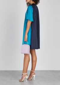 ROKSANDA Ada blue silk dress – colour block fashion