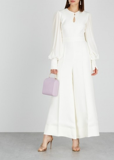 ROKSANDA Aunya ivory cady and silk jumpsuit