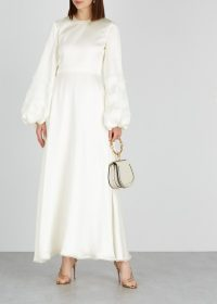 ROKSANDA Kamau ivory hammered silk dress