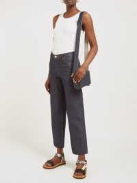 A.P.C. Sailor cropped raw-denim jeans in indigo