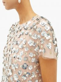 CAROLINA HERRERA Sequin-embellished tulle gown ~ sequinned flowers