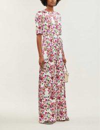 SEREN Truman floral-print wide-legged jumpsuit pink multi / summer event clothing