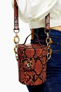 Topshop SHONA Orange Snake Barrel Cross Body Bag | small bags