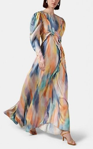 SIES MARJAN Virginia Tie-Dyed Silk Dress ~ long luxe dresses ~ gowns with swish - flipped