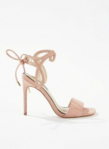 MISS SELFRIDGE SILVA Pink Laser Cut Out Sandals – luxe style heels
