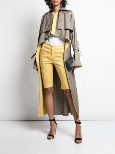 SILVIA TCHERASSI Sidney trench coat ~ chic high-low coats - flipped