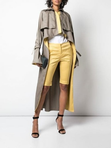 SILVIA TCHERASSI Sidney trench coat ~ chic high-low coats