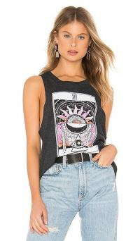 Spiritual Gangster Desert Gigi Muscle Tank Vintage Black / summer tanks / sleeveless tee