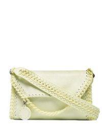 STELLA MCCARTNEY Light Yellow Mini Falabella shoulder bag ~ luxe faux leather bags
