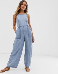 Superdry stonewash jumpsuit acid wash blue | denim jumpsuits