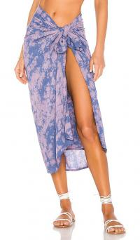 Tiare Hawaii Sarong Cloudy Tie Dye Indigo / beachwear / poolside fashion