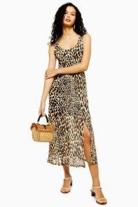 Topshop Tie Dye Animal Mesh Dress | printed summer frock