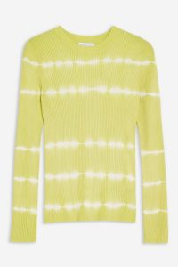 TOPSHOP Tie Dye Knitted Top Yellow