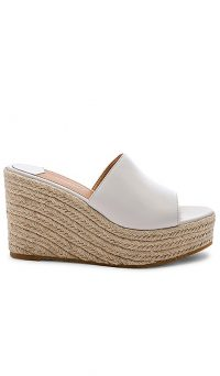 Tony Bianco Farren Wedge White Capretto | wedged mule