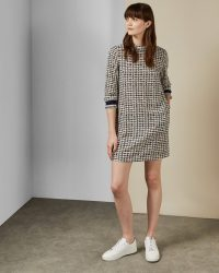 TED BAKER KARLEEN Triangle print dress – weekend shift