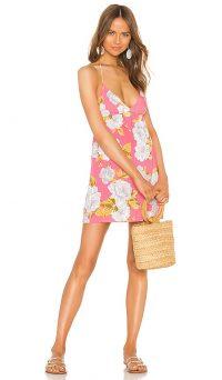 Tularosa True Dress Pink Magnolia – floral thin strap summer dresses
