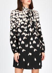 VALENTINO Floral-print silk crepe de chine dress / snowdrop prints