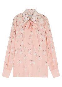 VALENTINO Light-pink snowdrop print silk blouse