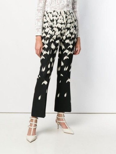 VALENTINO Snowdrop print trousers / floral pants