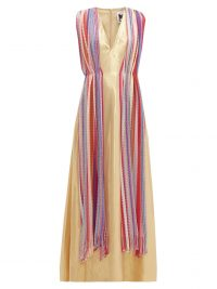 M MISSONI Vintage-scarf silk-blend gold-lamé maxi dress