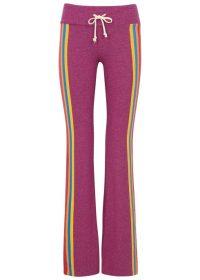 WILDFOX Rainbow brushed jersey sweatpants