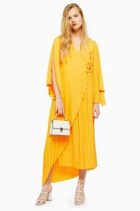 Selected Femme Yellow Ankle Dress | bright asymmetric summer dresses