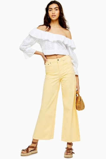 Topshop Yellow Crop Jeans | summer denim