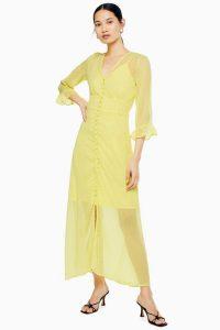 Yas Yellow Maxi Dress – vintage style clothing