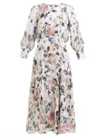 ERDEM Yusra Apsley-print silk-chiffon dress ~ painterly floral prints