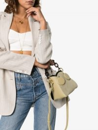 Yuzefi Pepper green suede Bucket Bag | small chic handbag