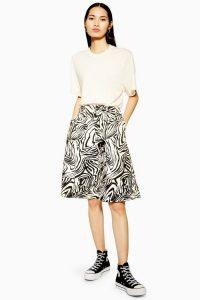Topshop Zebra Bermuda Shorts Monochrome