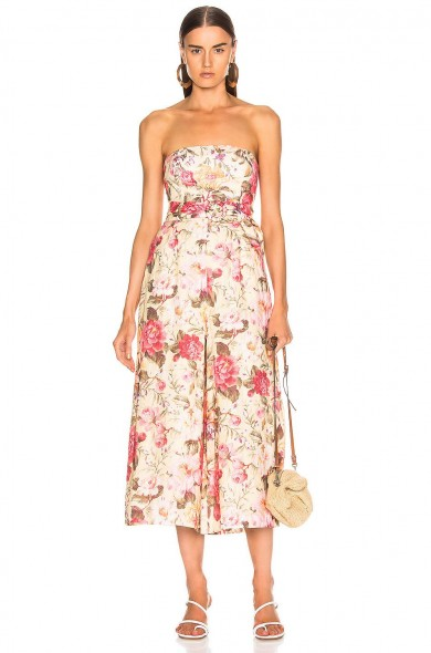 ZIMMERMANN Honour Strapless Jumpsuit / summer floral jumpsuits