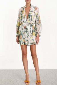 Zimmermann Zippy Necktie Playsuit