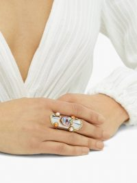 SYLVIA TOLEDANO Abalone and pearl-embellished ring