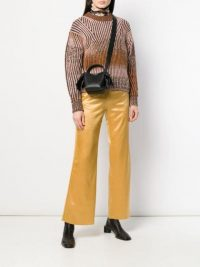 ACNE STUDIOS rainbow gradient sweater in brown | boxy crew neck jumper