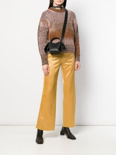 ACNE STUDIOS rainbow gradient sweater in brown | boxy crew neck jumper