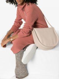 Aesther Ekme Saddle Hobo Shoulder Bag in Beige Leather