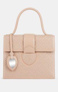 ALAÏA Leonie Medium Studded Leather Satchel ~ luxe handbags