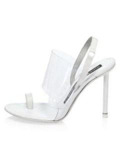 Sofia Richie white slingbacks out New York, 18 June 2019 ~ Alexander Wang Kaia PVC Slingback Sandals | celebrity street style heels | models off duty - flipped