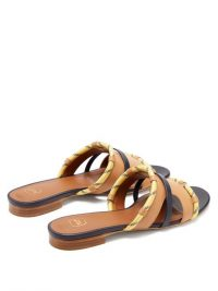 MALONE SOULIERS Alexis rope-strap brown leather sandals